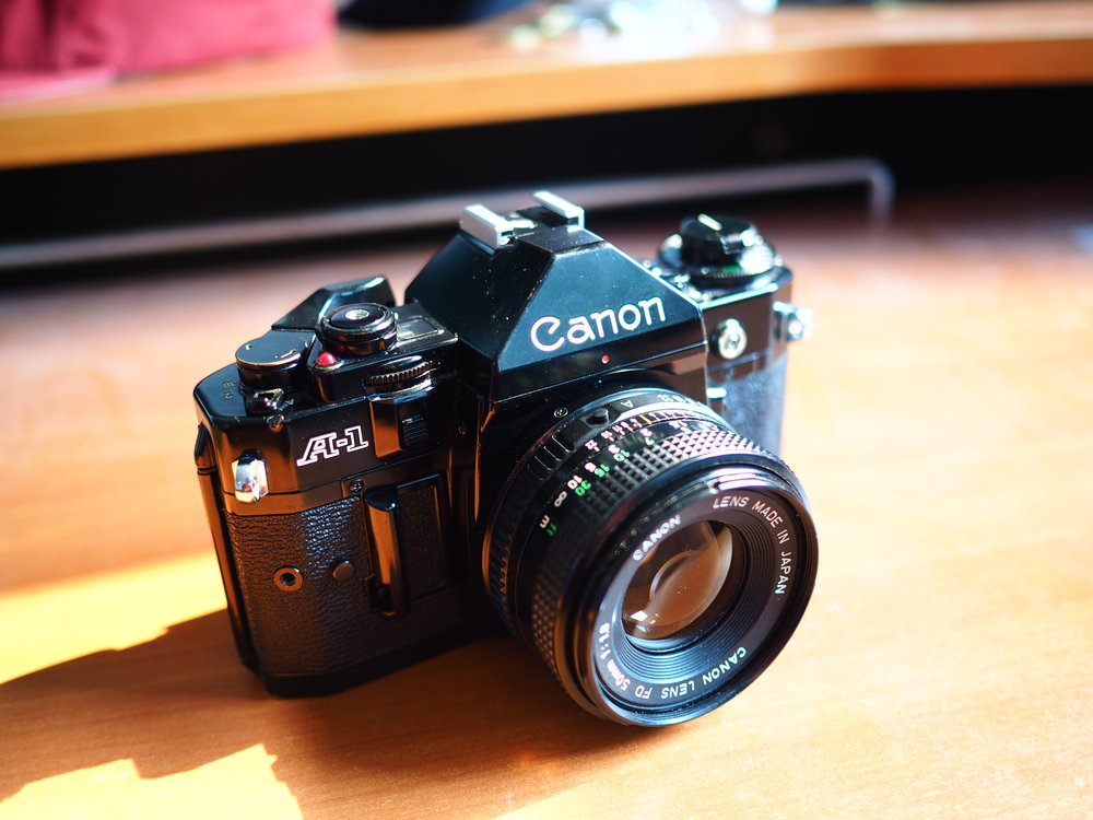 Canon A-1: My first slr film camera. This is where my foundation in photography started.