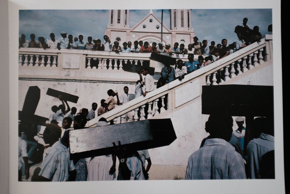 Port-au-Prince, Haiti 1987 (Memorial for victims of army violence ©Alex Webb