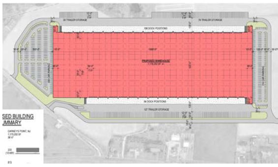 Year: 2017-2019  Size: 1,200,000 square feet  Exit 1 NJ Turnpike - 117-acre land compilation in south Jersey, involving sewer and water main relocation and wetland permitting. Rezoning from commercial to industrial and PILOT agreement negotiation with Township.  Expected delivery - Q4 of 2019.