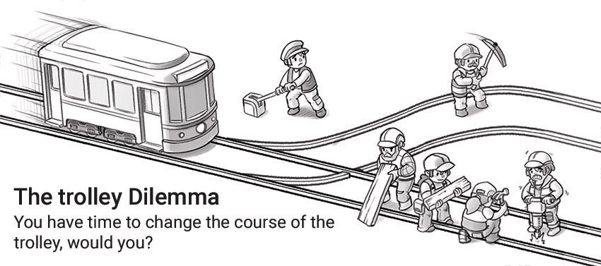 The trolley dilemma by Dr Ciléin Kearns (artibioitcs)