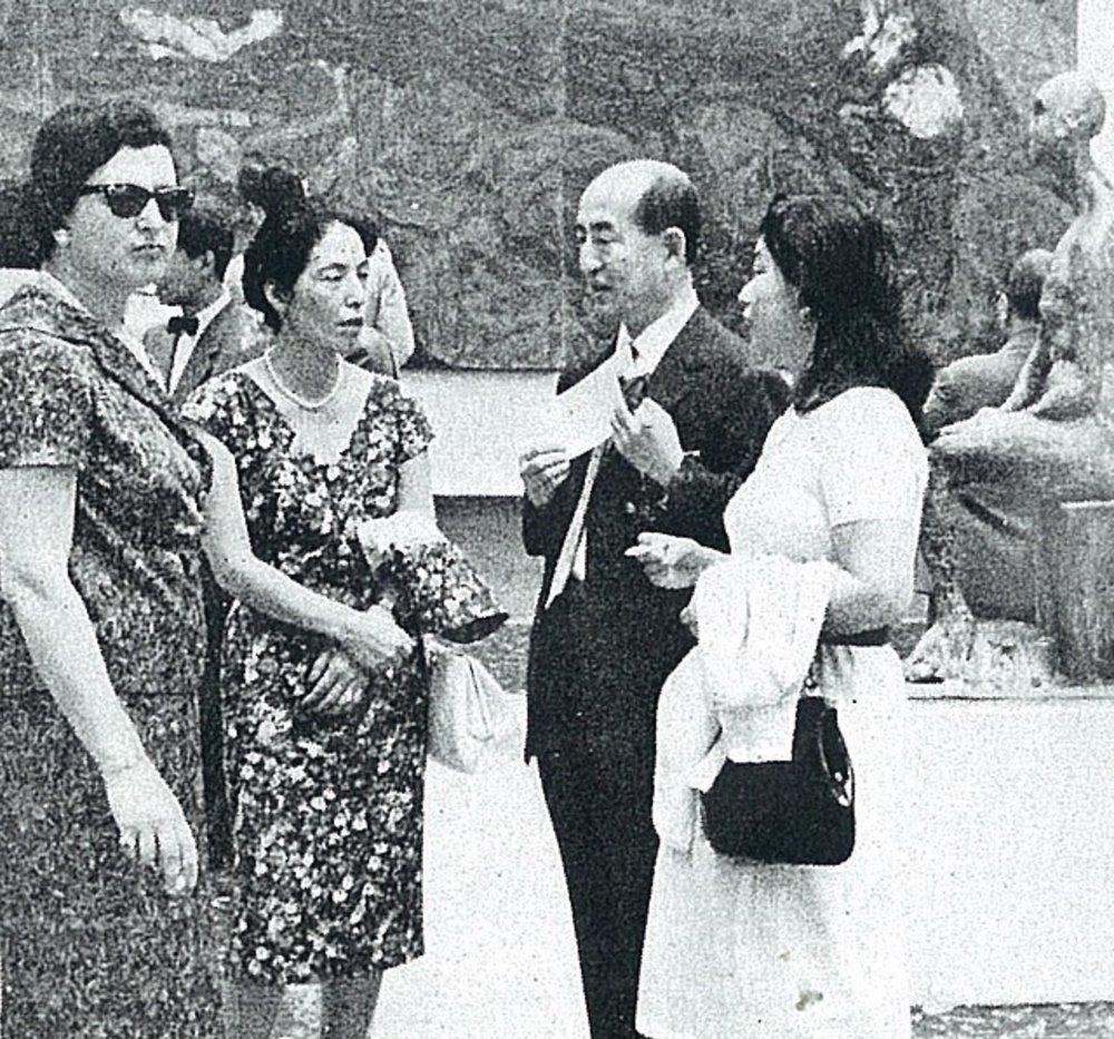 Yozo Hamaguchi and Keiko Minami on right.