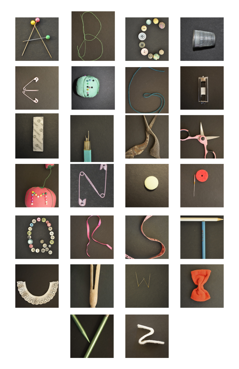 Sewing Kit Alphabet by Cassie Hall