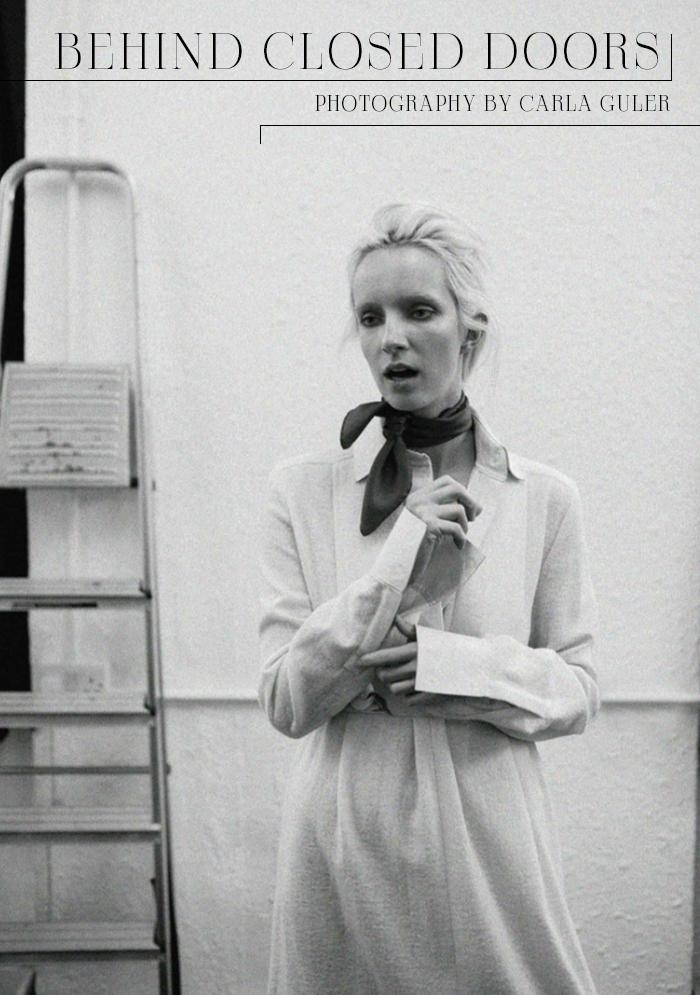 Dress: Fendi / Necktie: Moncler