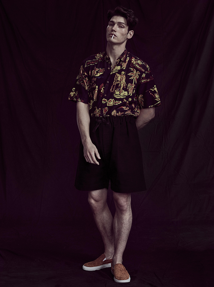 Shirt by Our Legacy / Shorts by Phoebe English / Shoes by Diemme