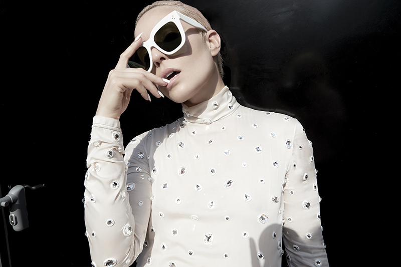 Top and sunglasses:  Céline