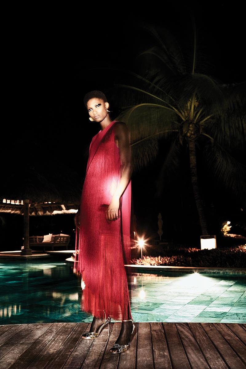 Dress:  Stella McCartney / Heels:  Aquazzura  / Tights:  Wolford  @  uktights.com