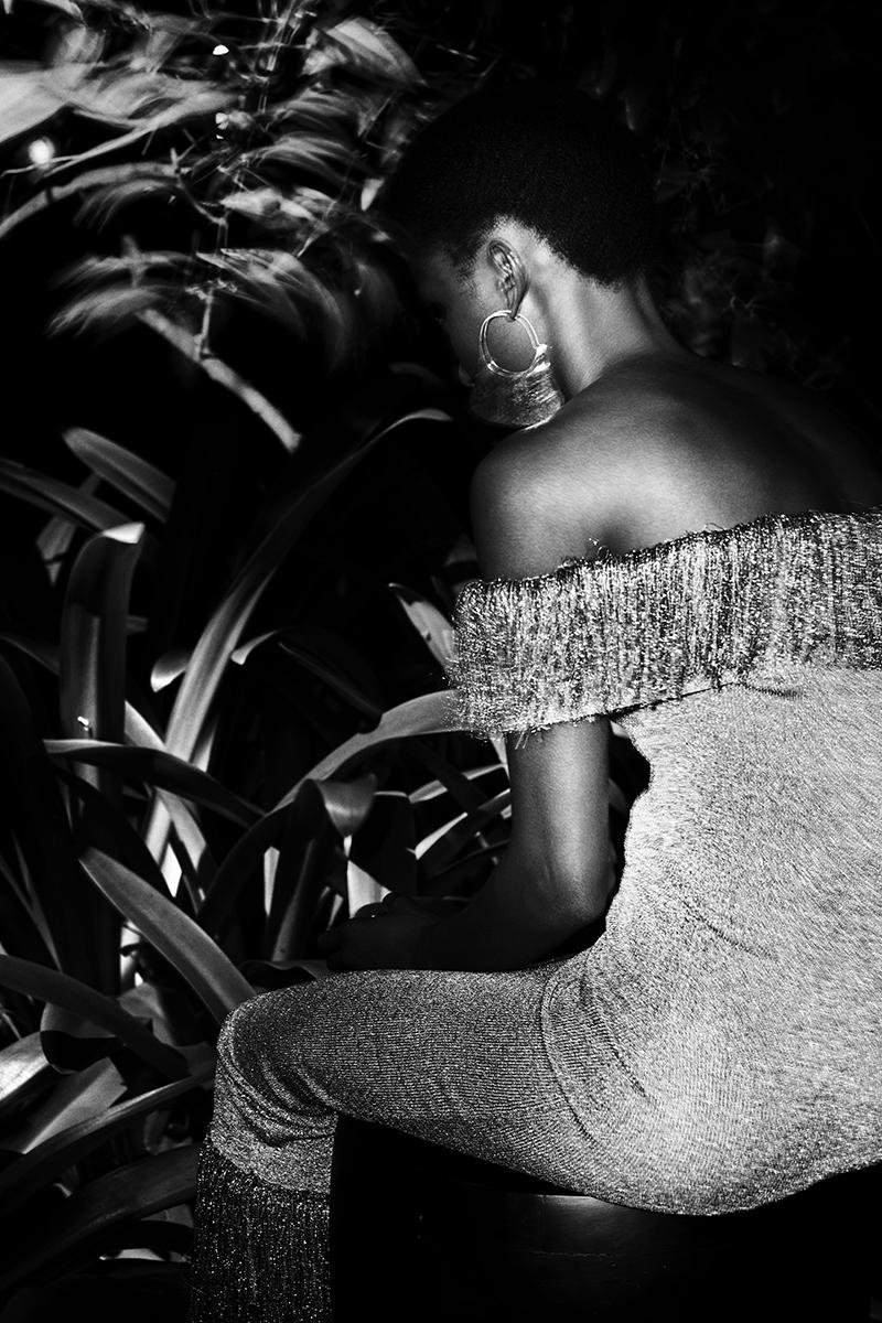 Dress: Christopher Kane/ Earring: Sian Evans for Borgo De Nor