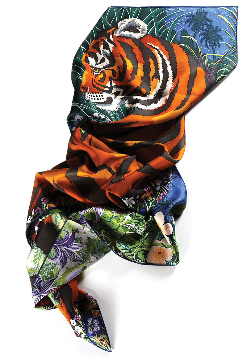 Tyger Tyger silk scarf: Hermès