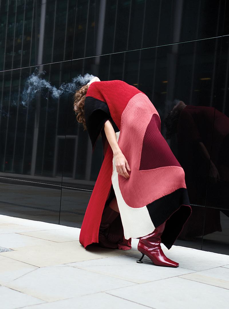 Dress: Roksanda / Boots: Marni