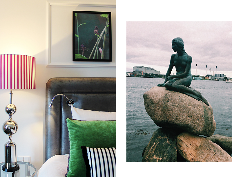 Left: Superior Room décor / Right:  The Little Mermaid  by Edvard Eriksen