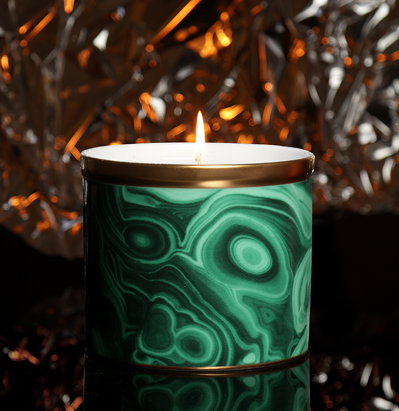L'Objet  Malachite Candle – £100.00