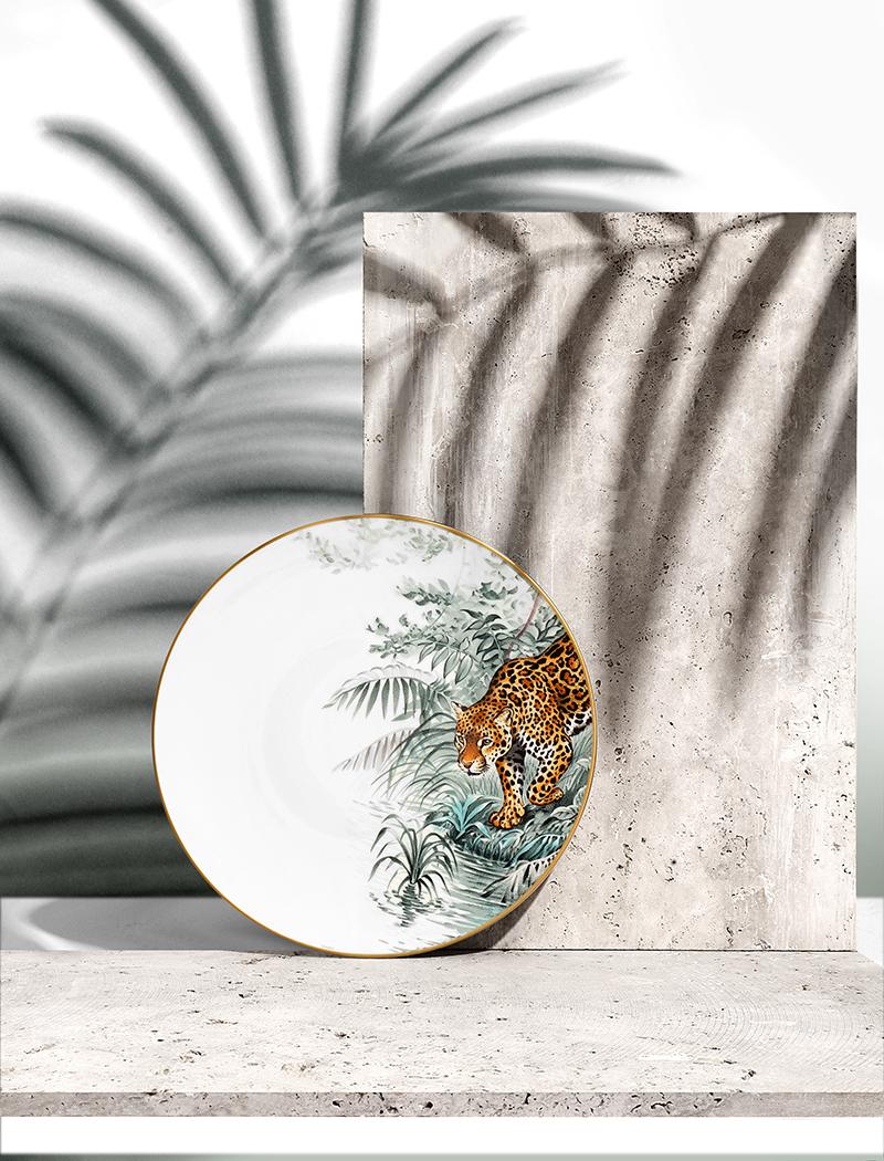 Hermès Carnets d'Equateur  Jaguar  American Dinner Plate (27cm) – £139.00