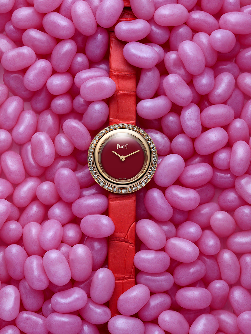 PIAGET  Possession  watch in pink gold, diamonds and Carnelian dial with alligator strap – £14,600.00 (BOUTIQUE EXCLUSIVE)
