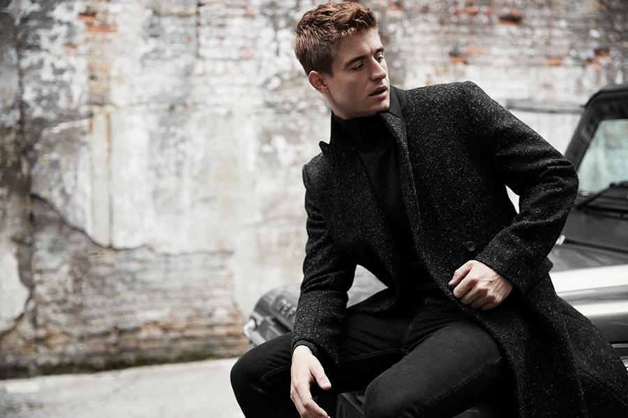 Overcoat:  Matthew Miller /  Polo knit:  Mr P  @  mrporter.com /  Jeans:  Kent & Curwen