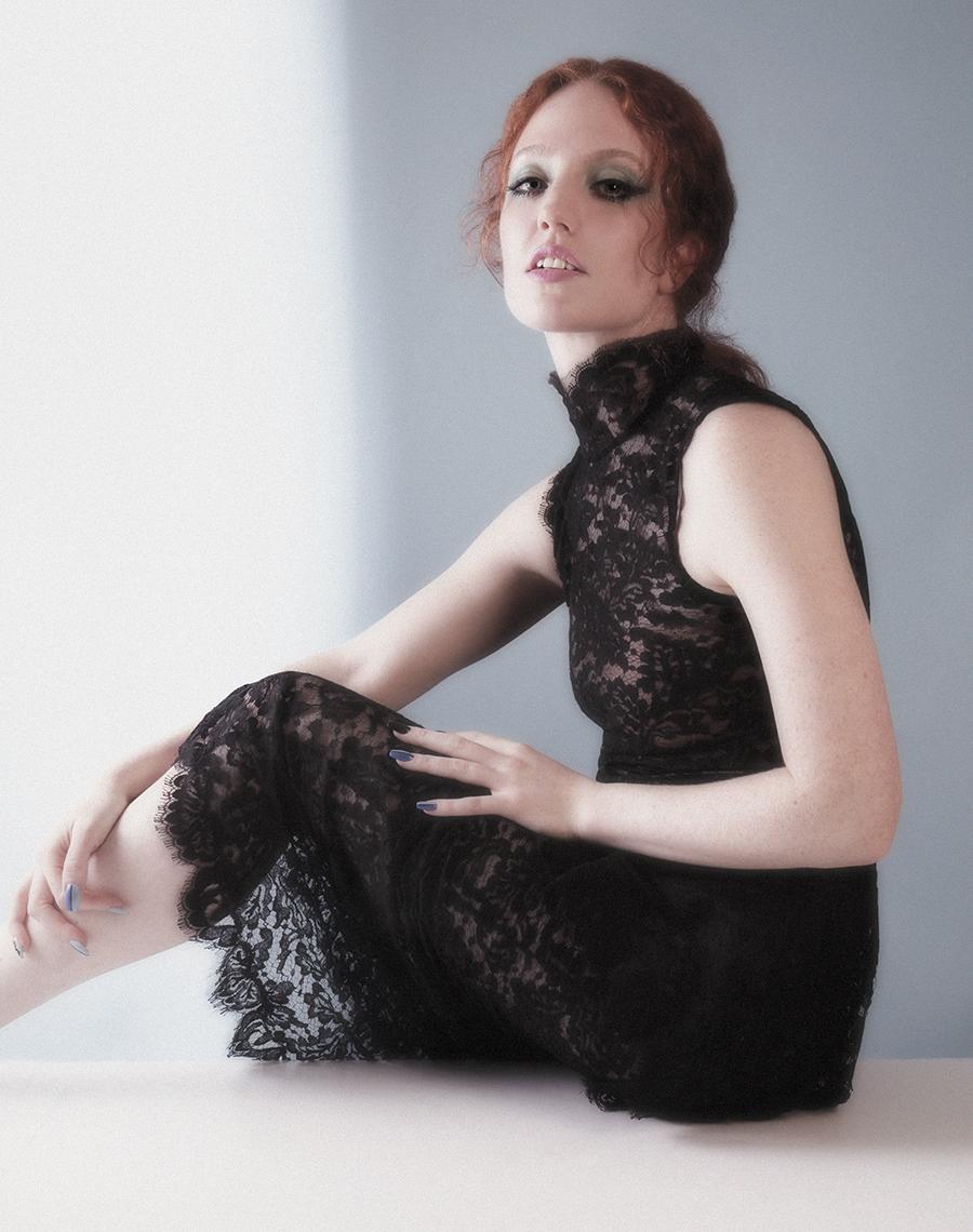 Lace dress:  Chanel