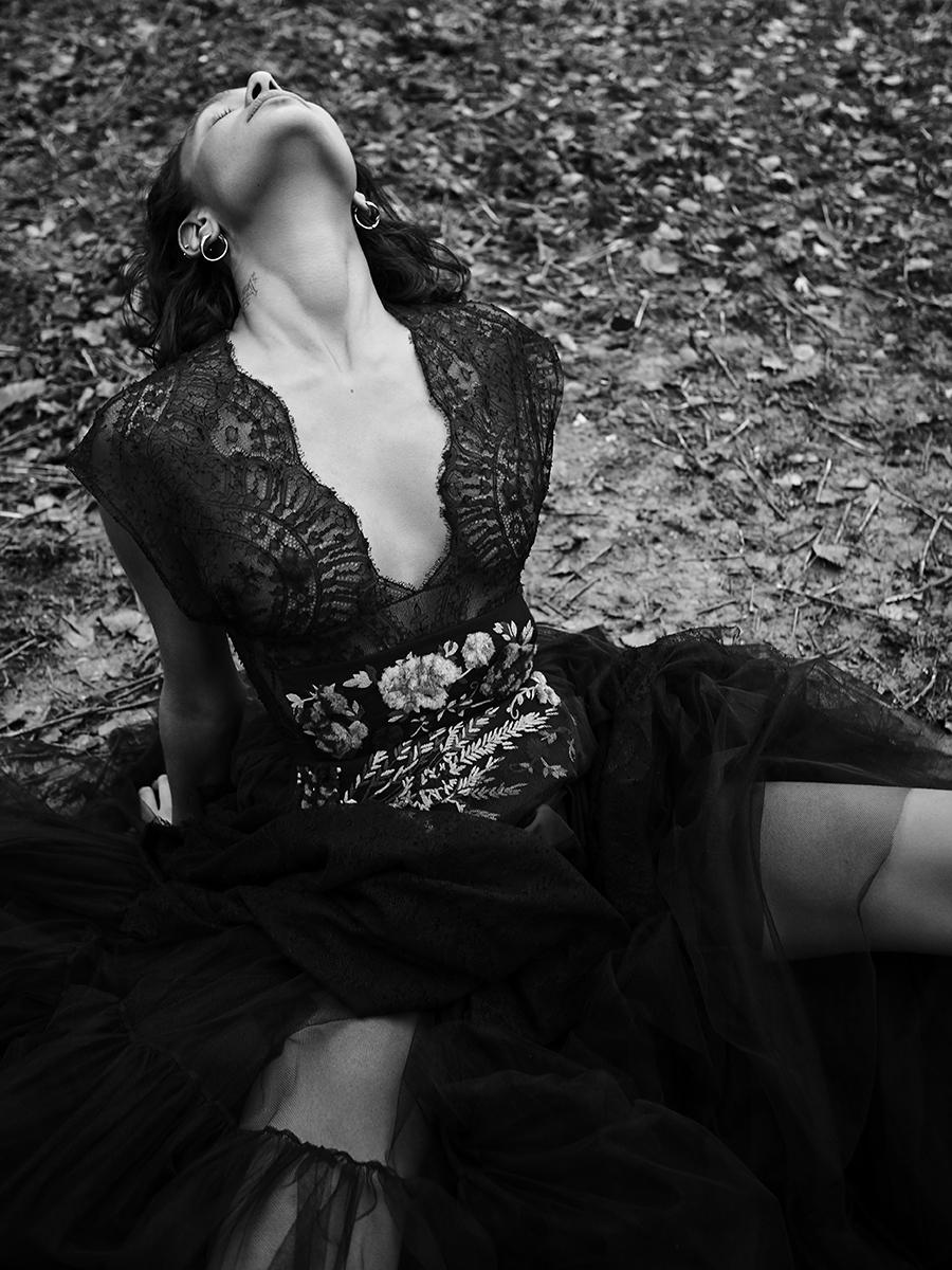 Dress:  Dior /  Earrings:  Georgiana Scott