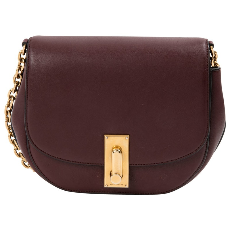 MARC JACOBS BURGUDY LEATHER BAG ($473.73)