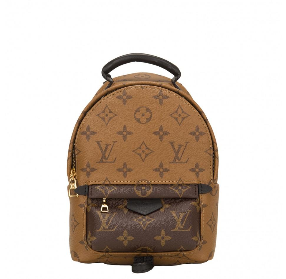 LOUIS VUITTON  Reverse Monogram Palm Springs Backpack Mini, $2,825, portero.com