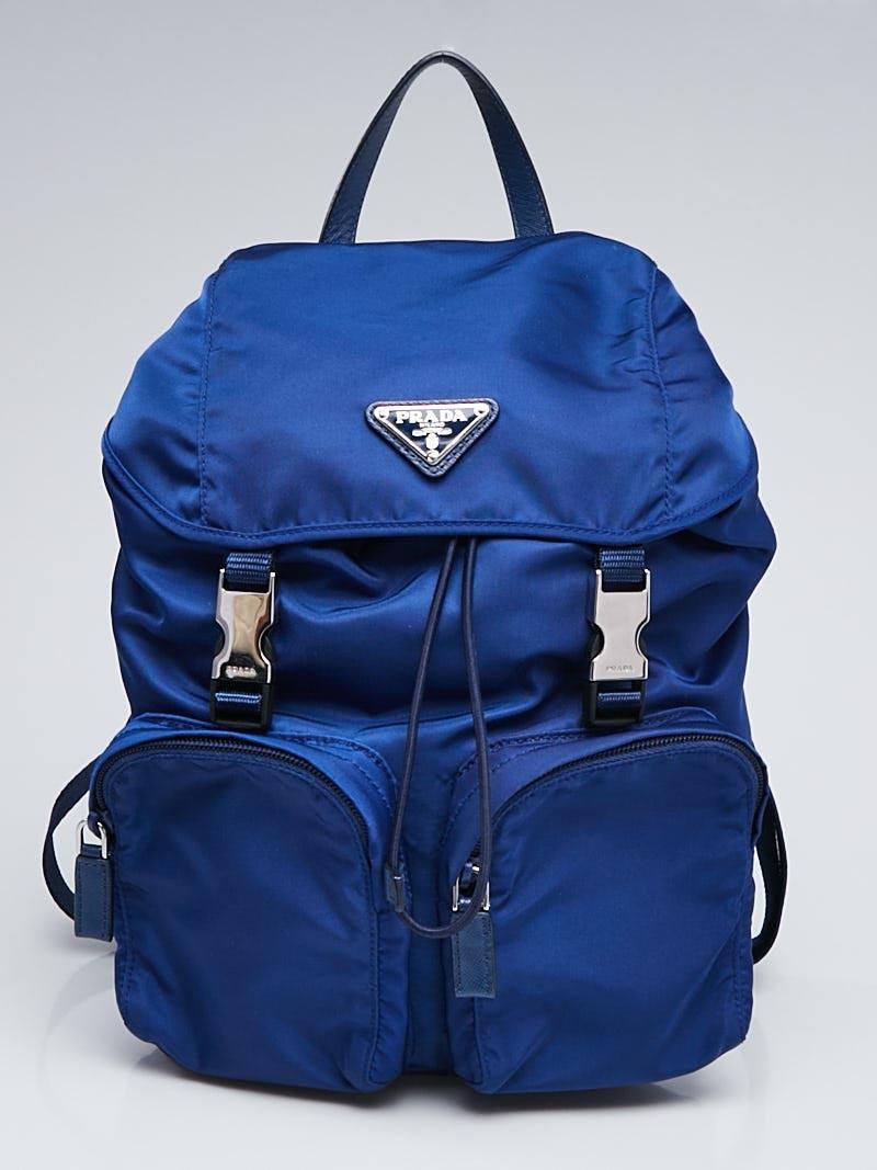 PRADA    Bluette Nylon Zainetto Backpack Bag, $595, yoogiscloset.com