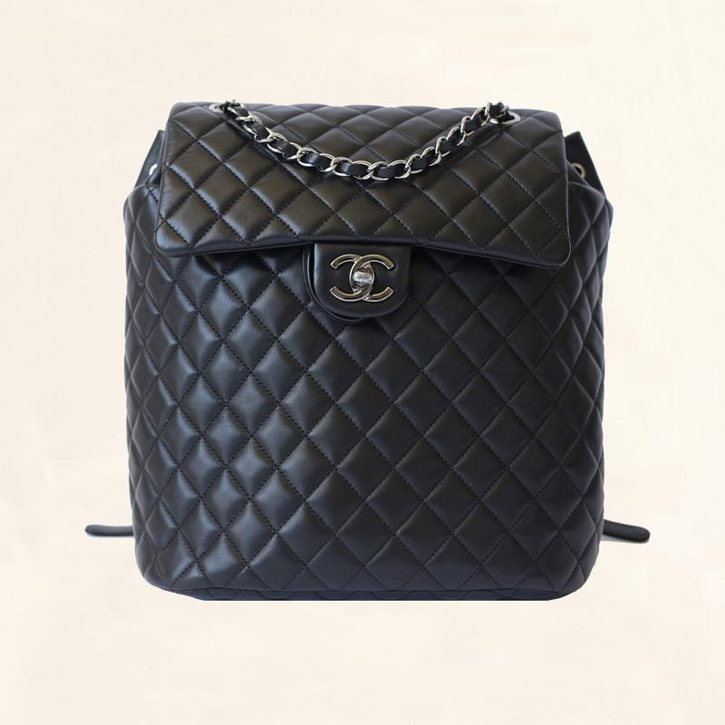 CHANEL    Quilted Lambskin Urban Spirit Large Backpack, $4,525, the-collectory.com