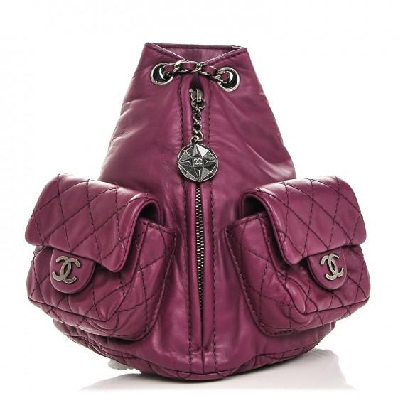 CHANEL    Calfskin Mini Backpack Is Back Plum, $1,650, fashionphile.com