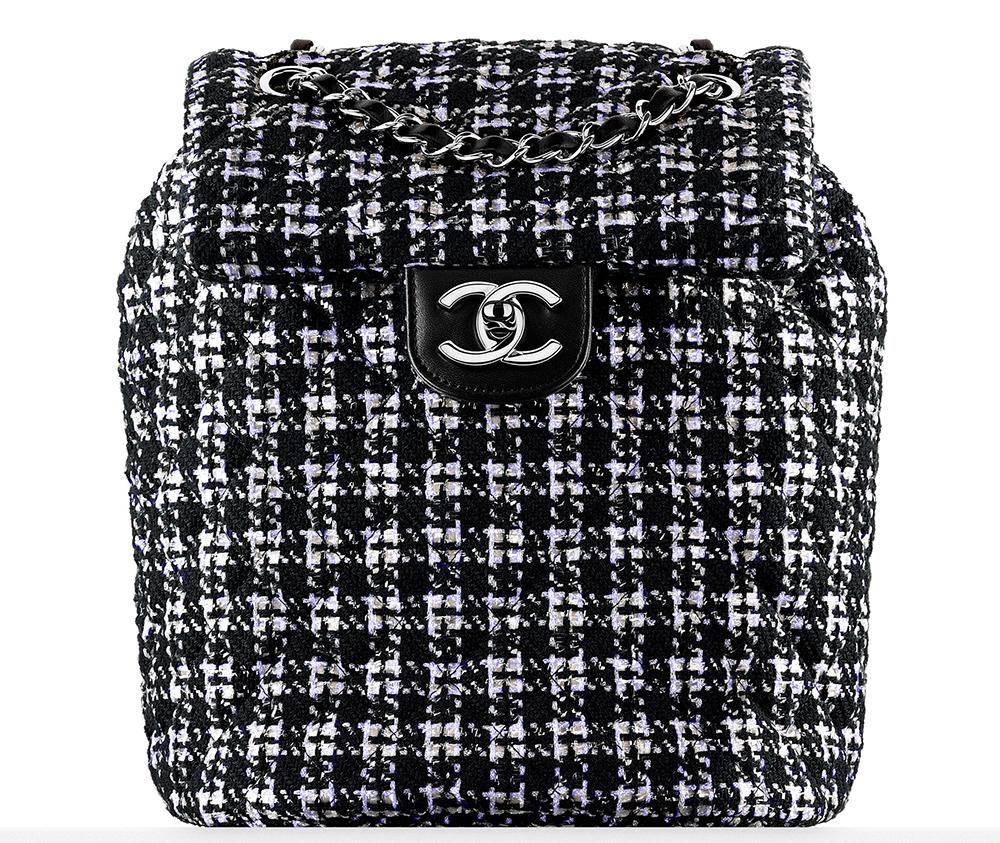 CHANEL   Tweed 2016 Backpack, $3,150, tradesy.com
