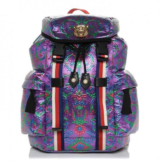 GUCCI     Brocade Web Small Backpack Multicolor, $1,525, fashionphile.com