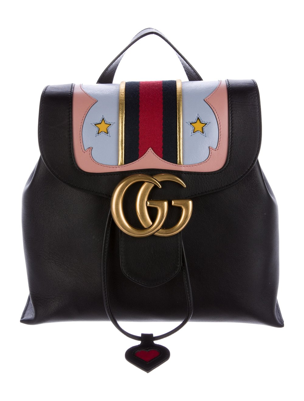 GUCCI     2017 Marmont Web Backpack, $2,200, therealreal.com