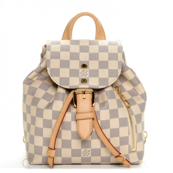 LOUIS VUITTON    Damier Azur Sperone BB Backpack, $1,650, fashionphile.com