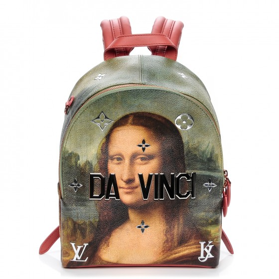 LOUIS VUITTON    Masters Jeff Koons Da Vinci Palm Springs Backpack, $3,495, fashionphile.com