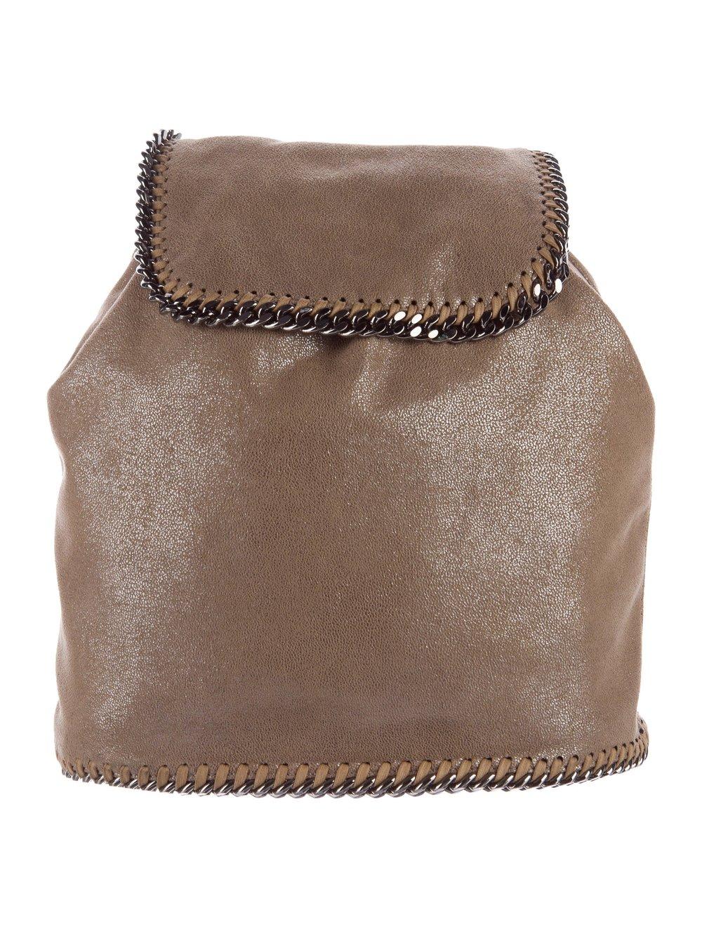 STELLA MCCARTNEY     Falabella Shaggy Deer Backpack, $472.50, therealreal.com