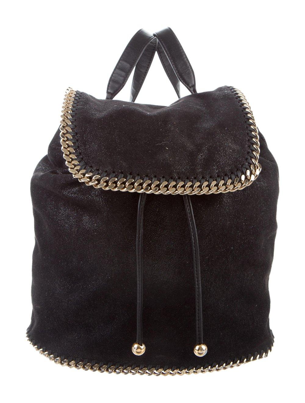 STELLA MCCARTNEY    Falabella Shaggy Deer Backpack, $596, therealreal.com