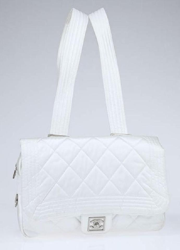 a0ff2de531b6b9 CHANEL Nylon Sportline Quilted Classic Flap Medium Backpack, $1,351, tradesy .com