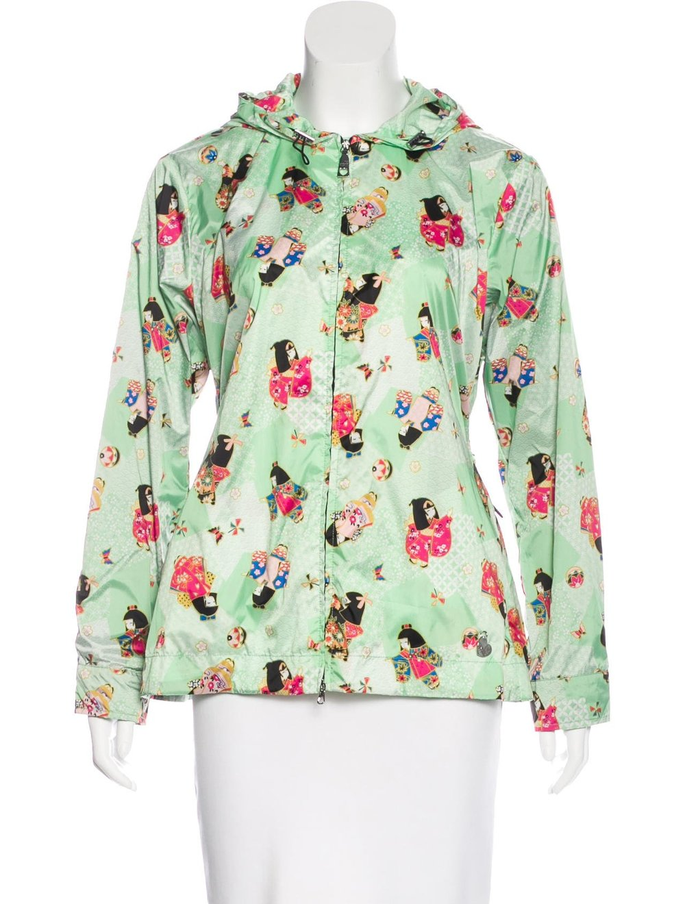 LOVE MOSCHINO Printed Hooded Jacket; Size: US 4; $125.00
