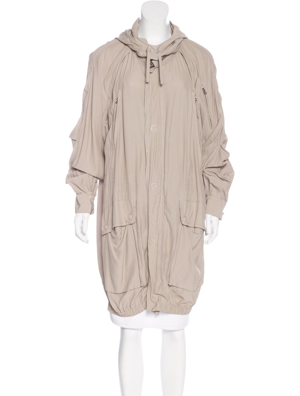 MARC JACOBS Hooded Anorak Jacket; Size: S; $147.50