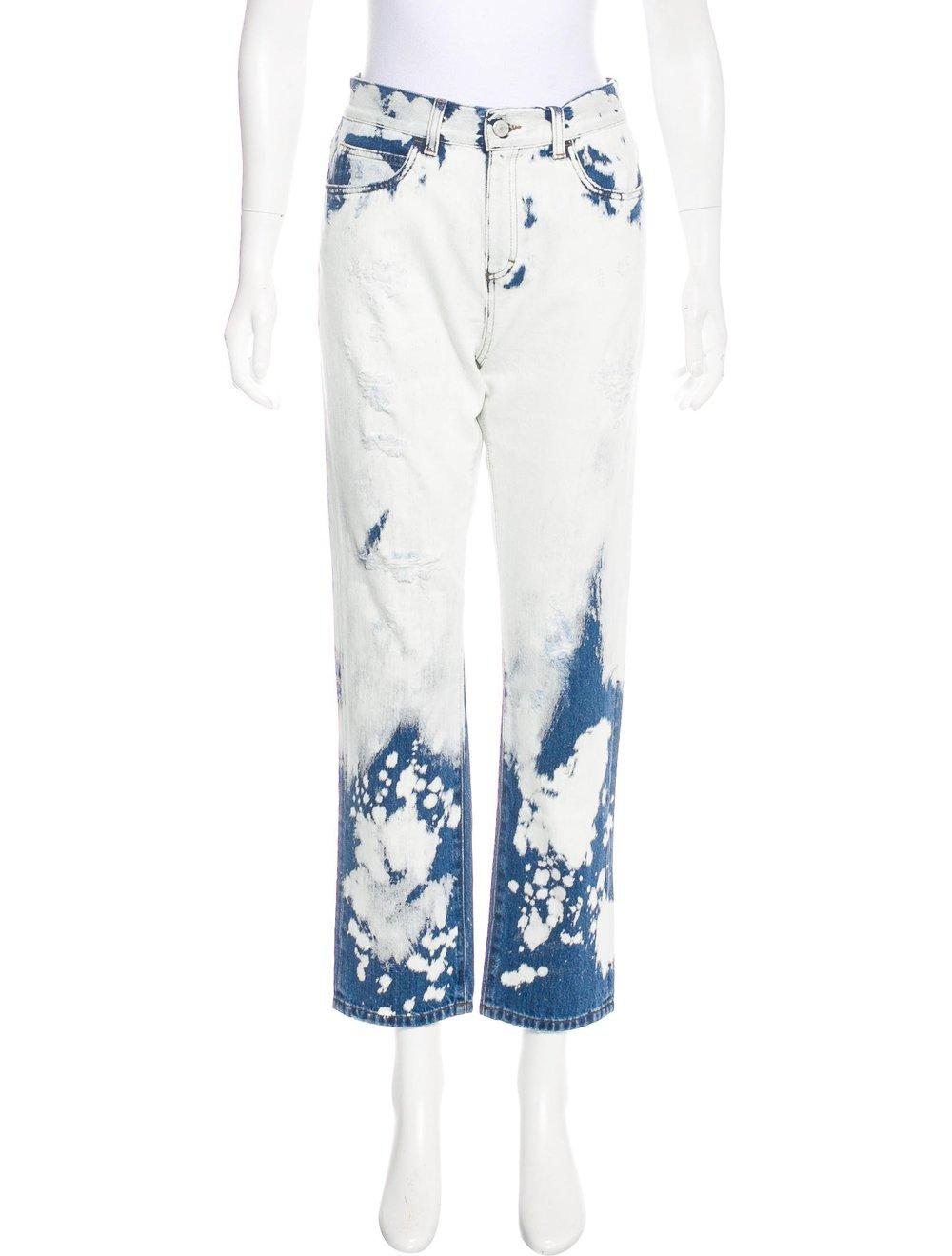 GUCCI High Rise Boyfriend Tie-Dye Print Jeans; Size: M; $595.00