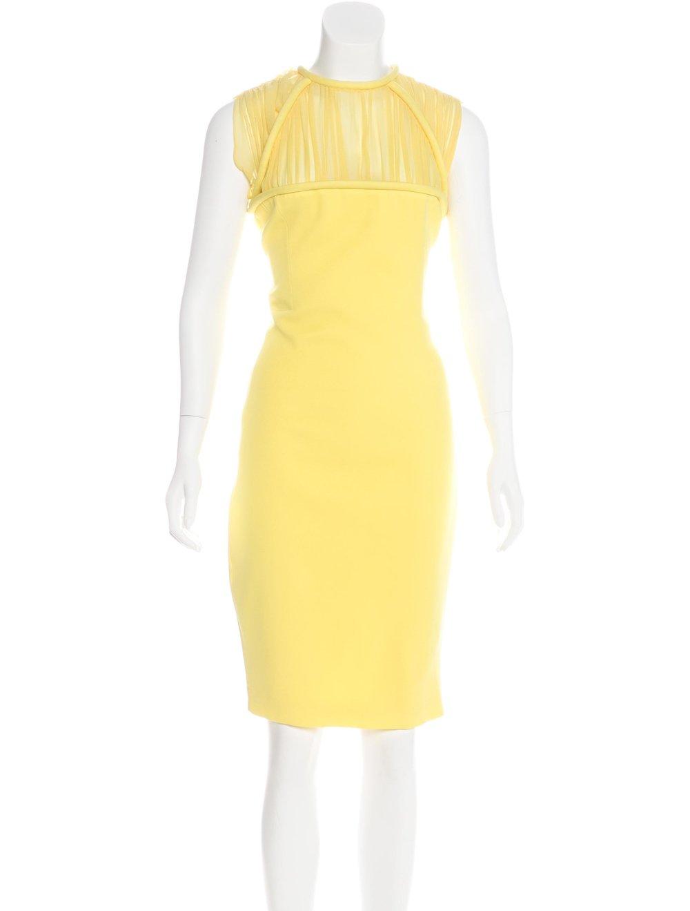 HAKAAN SLEEVELESS KNEE-LENGTH DRESS; Size: US 12; $125.00