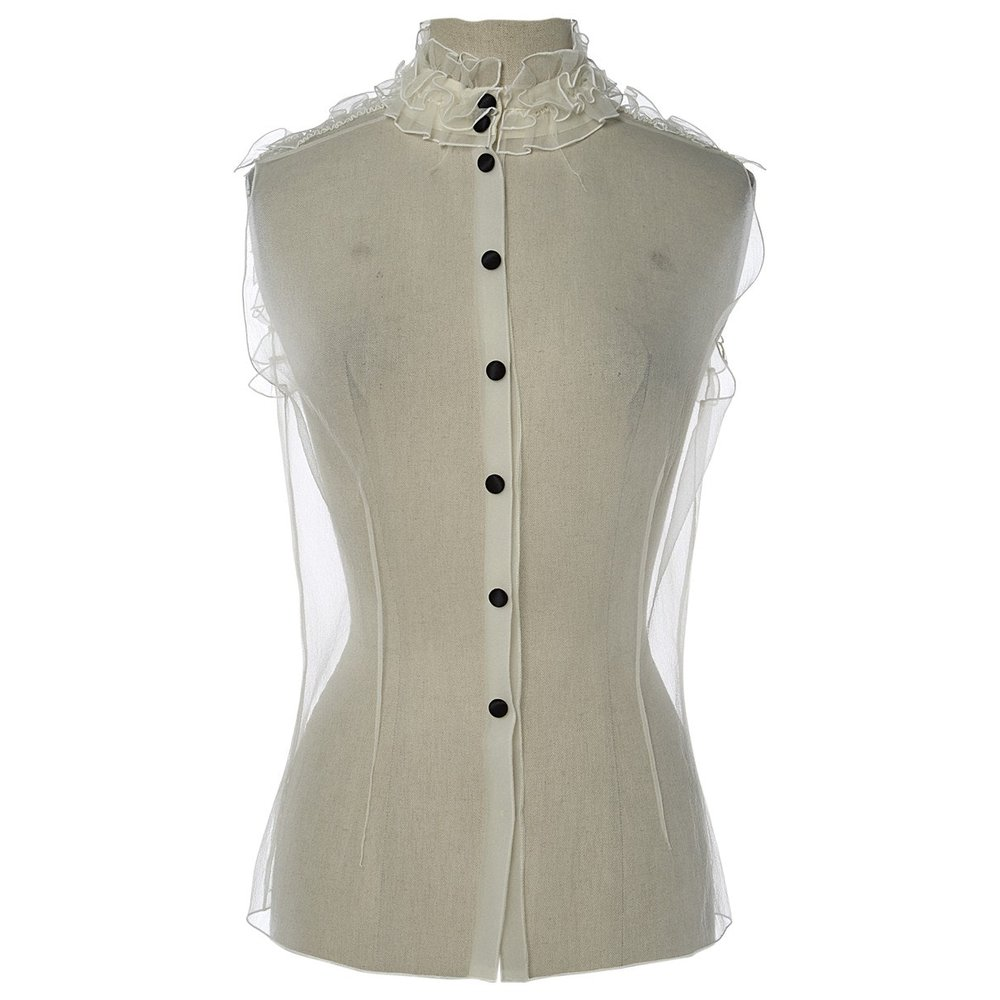 MARC JACOBS White Silk Shirt; Size: S; $272.21