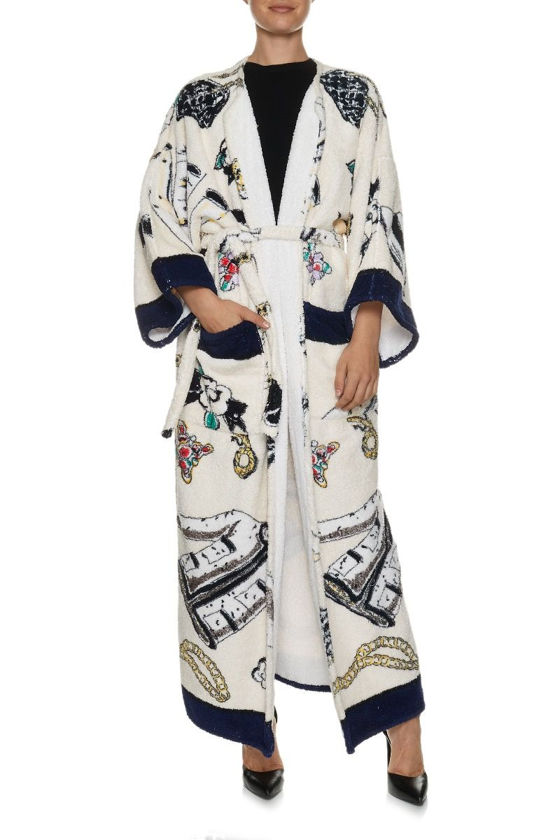 CHANEL Runway Vintage Terrycloth Robe; One Size Fits Most; $7,500.00