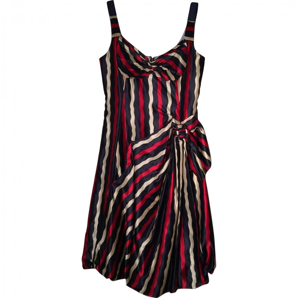 MARC JACOBS Multicolor Silk Mid-Length Dress; Size: 6 US; $180