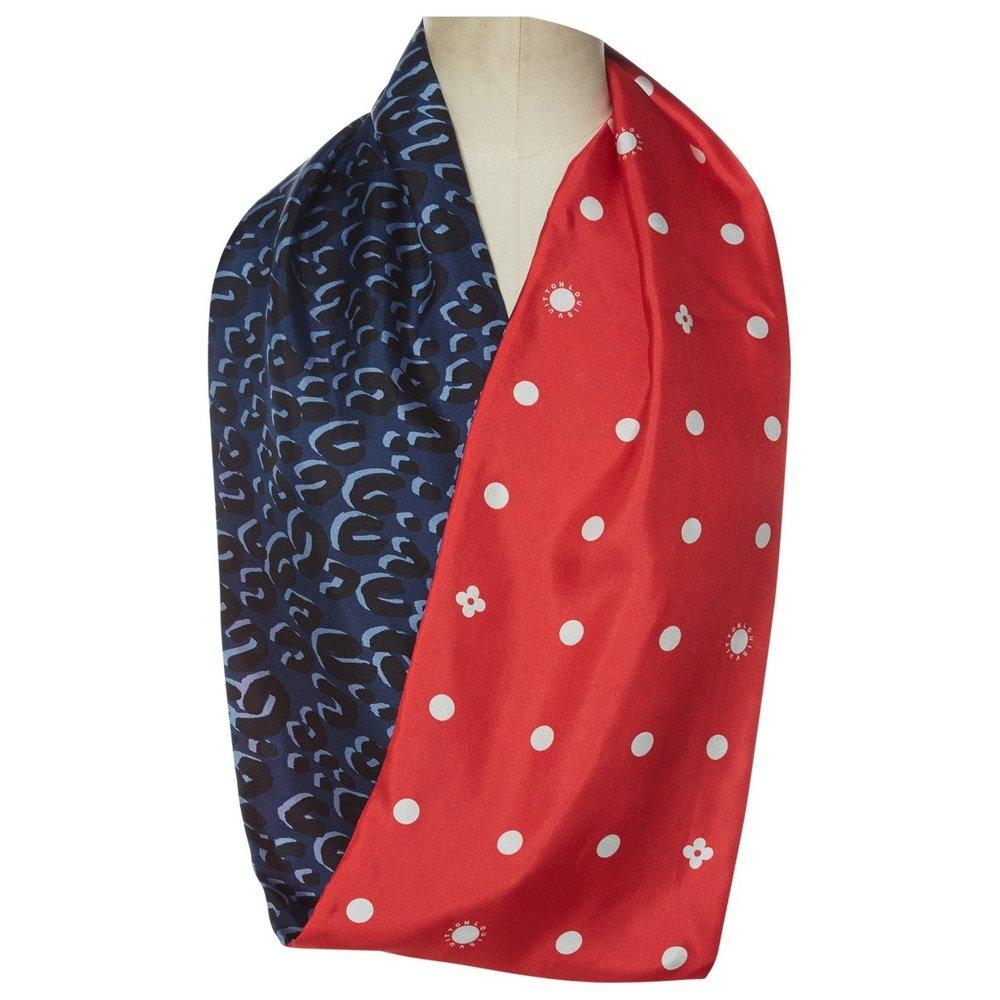 LOUIS VUITTON Silk neckerchief; $212.17