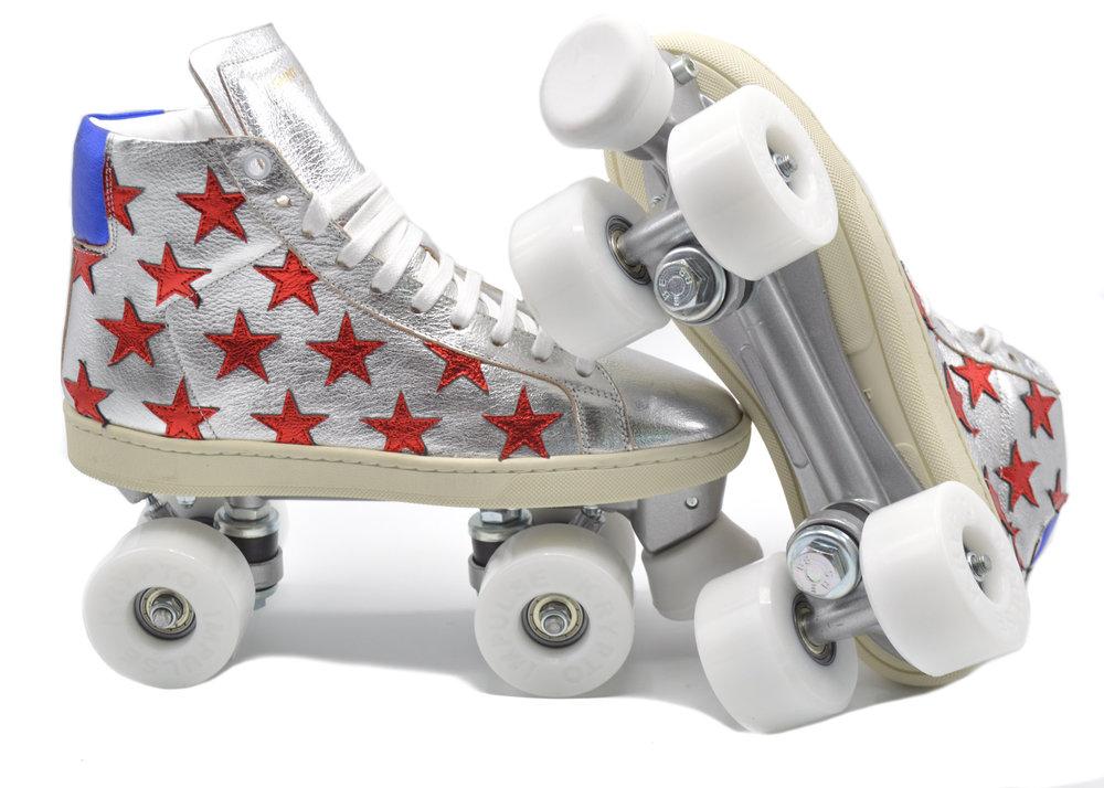 SAINT LAURENT California Court Classic Roller Skates Sneakers; Size: 5; $379.00