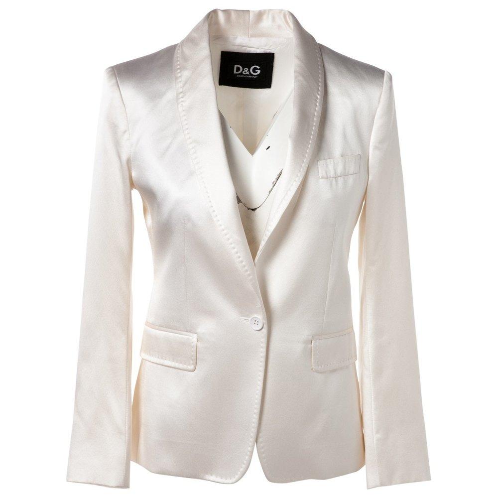 D&G White Silk Blazer; Size: 40 IT; $223.10