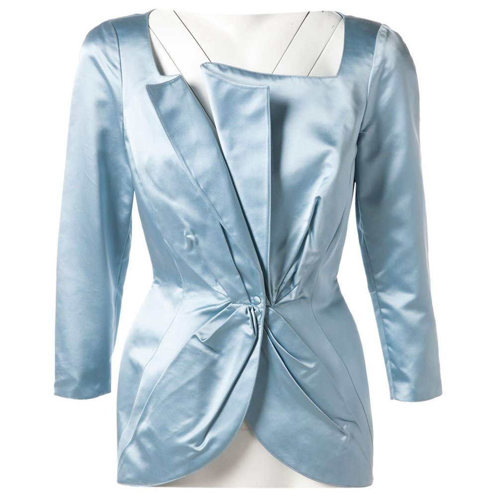 THIERRY MUGLER Blue Jacket; Size: 38 FR; $412.14