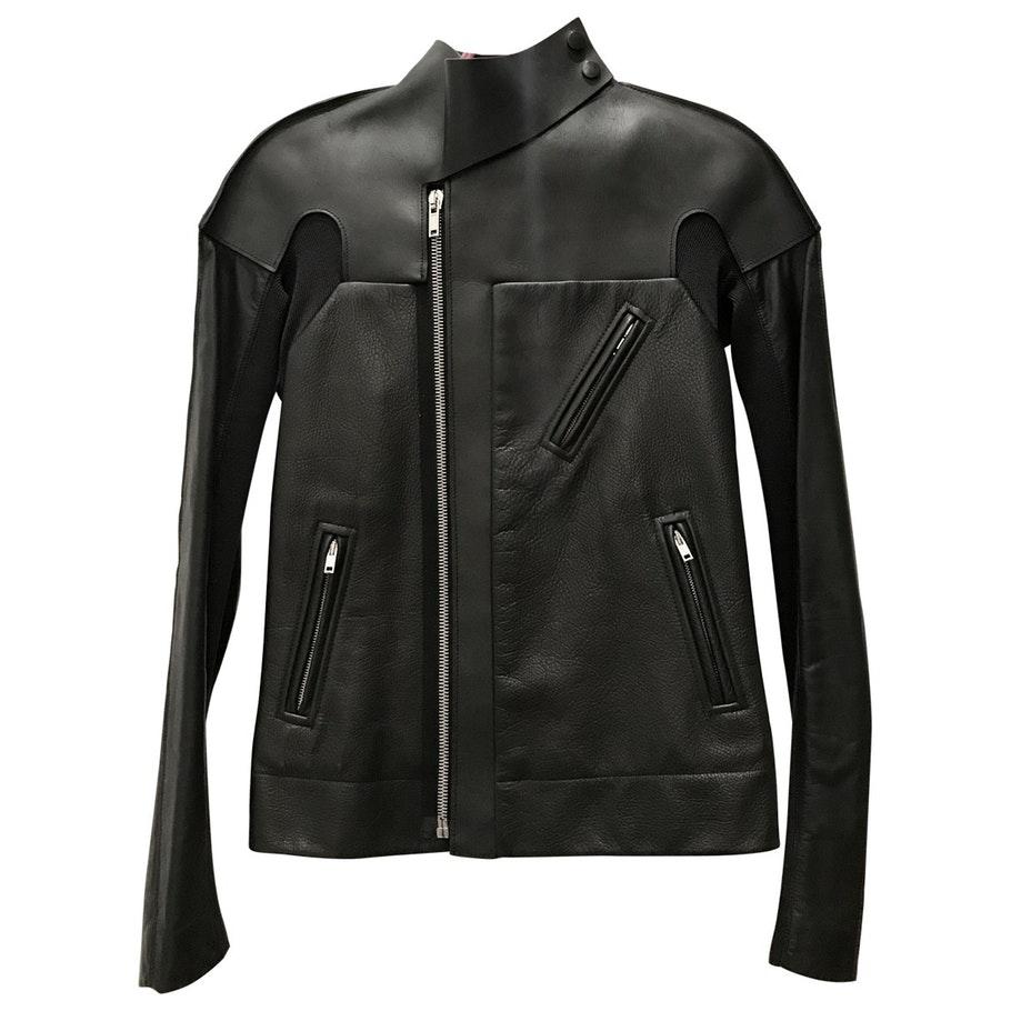 RICK OWENS Leather Biker Jacket $708.60