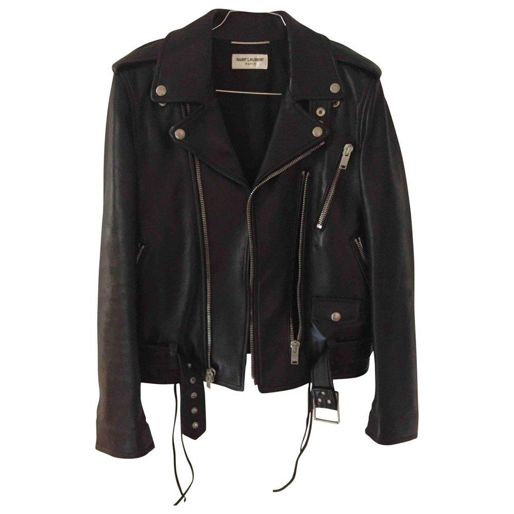 SAINT LAURENT Leather Biker Jacket $2,704.49