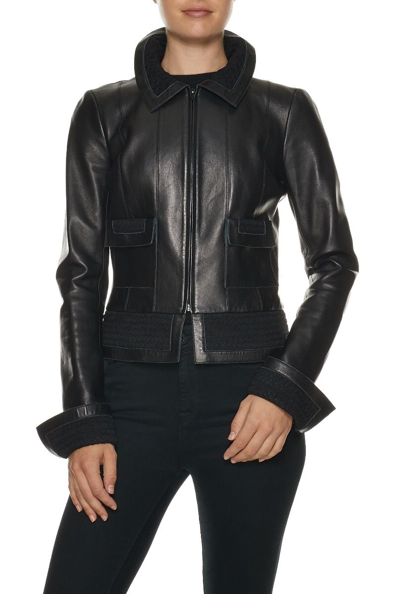 CHANEL Lambskin & Smocked Jacket $3,500.00