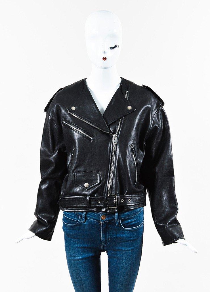 """ISABEL MARANT """"Audric"""" Black Leather Moto Jacket $1,195.00"""