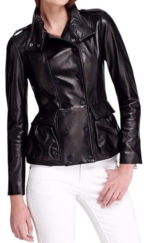 BURBERRY LONDON Soft Lambskin Leather Coat Leather Jacket  $716.55