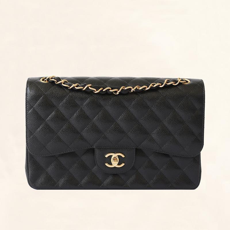- Chanel Jumbo Black Caviar Classic Double Flap $5,600.00